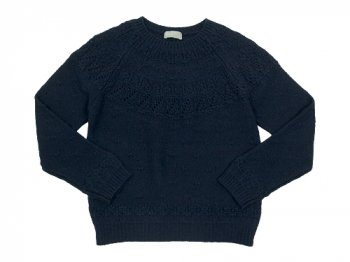 MARGARET HOWELL TEXTUERD MERINO JUMPER KNIT 121NAVY 〔レディース〕