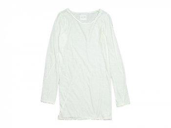 TOUJOURS Round Neck Shirt WHITE