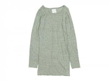 TOUJOURS Round Neck Shirt LIGHT GRAY