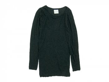 TOUJOURS Round Neck Shirt DUSTY BLACK