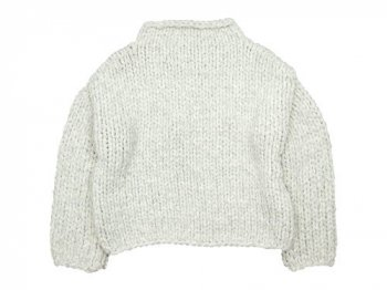 TOUJOURS Bottle Neck Pullover LIGHT GRAY