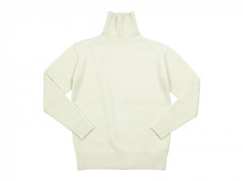 TOUJOURS Turtle-Neck Pullover WHITE