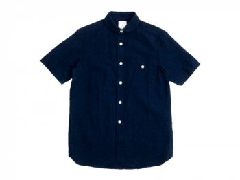 maillot sunset round work S/S shirts NAVY