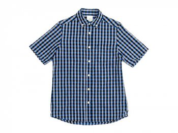 maillot sunset big gingham B.D. S/S shirts BIG BLUE x BLACK