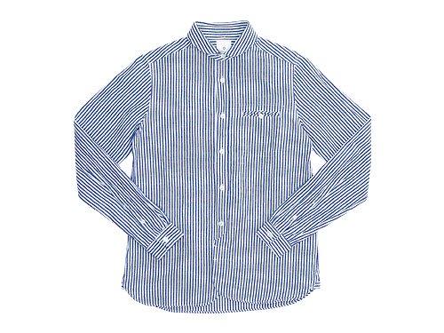 maillot sunset stripe round work shirts BLUE x WHITE