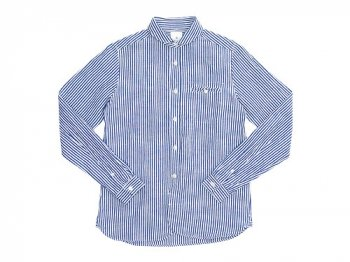 maillot sunset stripe round work shirts BLUE x WHITE