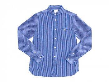 maillot sunset stripe round work shirts BLUE x BLUE