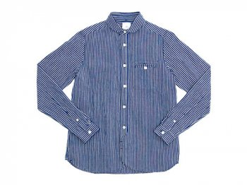 maillot sunset stripe round work shirts NAVY x BLACK