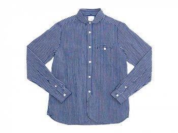 maillot sunset stripe round work shirts NAVY x BLACK