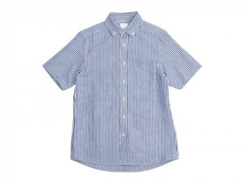 maillot sunset stripe B.D. S/S shirts BLUE x WHITE
