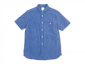 maillot sunset stripe round work S/S shirts BLUE x BLUE