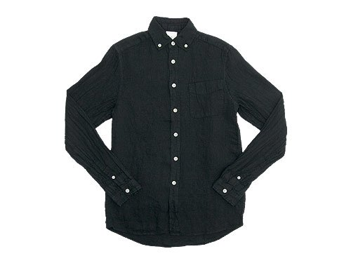 maillot sunset linen B.D. shirts BLACK
