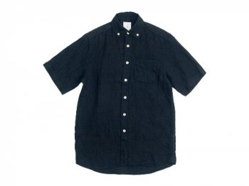 maillot sunset linen B.D. S/S shirts BLACK