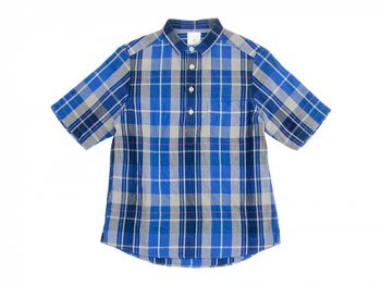 maillot C/L check pull over shirts BLUE