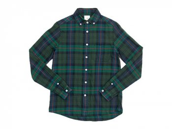 maillot twill check B.D. shirts GREEN
