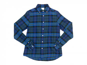 maillot twill check B.D. shirts BLUE