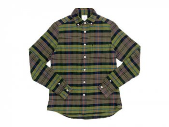 maillot twill check B.D. shirts YELLOW