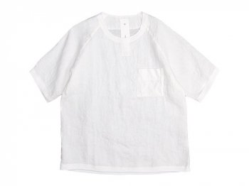 maillot linen shirts pocket T WHITE
