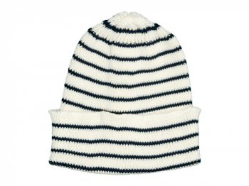 maillot cotton border knit cap WHITE