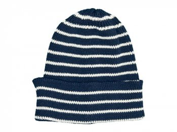 maillot cotton border knit cap NAVY