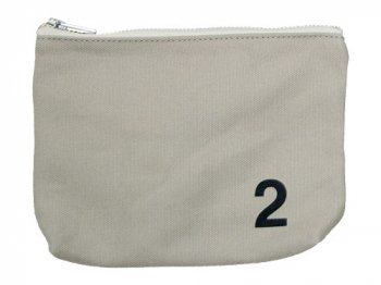 MHL. HEAVY CANVAS POUCH 2 020GRAY
