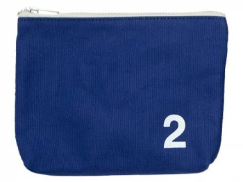 MHL. HEAVY CANVAS POUCH 2 110BLUE