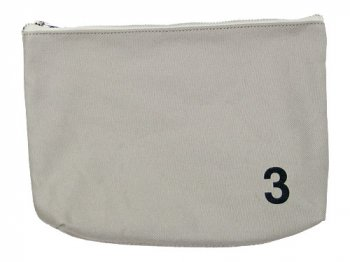 MHL. HEAVY CANVAS POUCH 3 020GRAY
