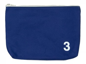 MHL. HEAVY CANVAS POUCH 3 110BLUE
