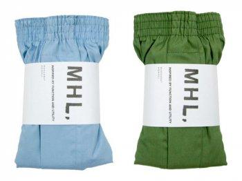 MHL. BASIC COLOUR CLOTH TRUNKS 〔メンズ〕