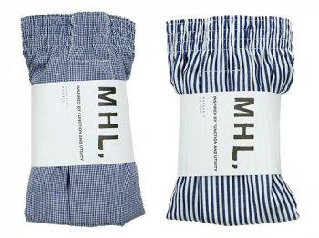 MHL. BASIC PATTERN CLOTH TRUNKS 〔メンズ〕
