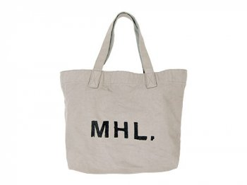 MHL. HEAVY CANVAS TOTE BAG 020GRAY