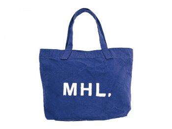 MHL. HEAVY CANVAS TOTE BAG 110BLUE