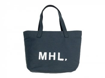 MHL. HEAVY COTTON JUTE CANVAS TOTE BAG 023CHARCOAL