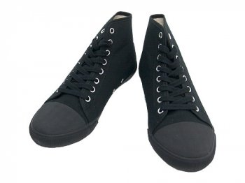 MHL. COTTON CANVAS HI-CUT SHOES 010BLACK