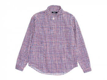 LOLO コットンプルオーバーペンシルチェックシャツ TRICOLORE
