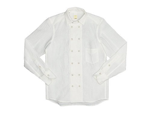 TATAMIZE DOUBLE BRESTED SHIRTS OFF WHITE