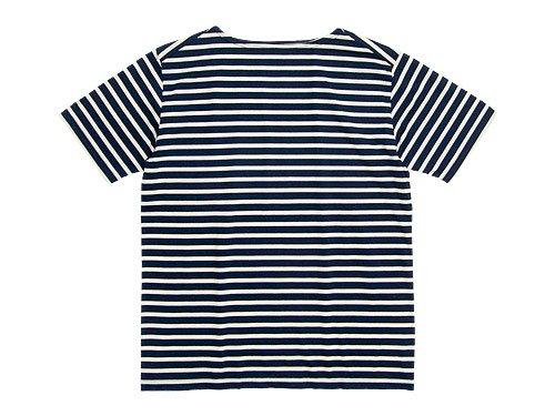 Charpentier de Vaisseau Boat Neck Short Sleeve NAVY x BEIGE