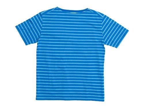 Charpentier de Vaisseau Boat Neck Short Sleeve BLUE x LIGHT BLUE