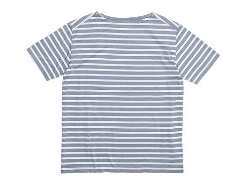 Charpentier de Vaisseau Boat Neck Short Sleeve GRAY x WHITE