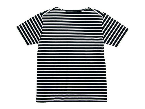 Charpentier de Vaisseau Boat Neck Short Sleeve BLACK x WHITE