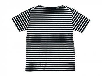 Charpentier de Vaisseau Boat Neck Short Sleeve BLACK x WHITE
