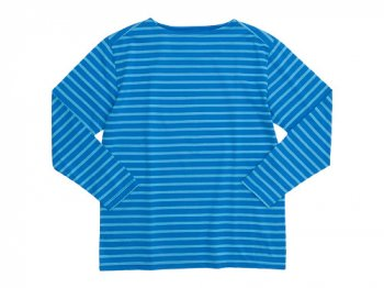 Charpentier de Vaisseau Boat Neck 9/10 Sleeve BLUE x LIGHT BLUE