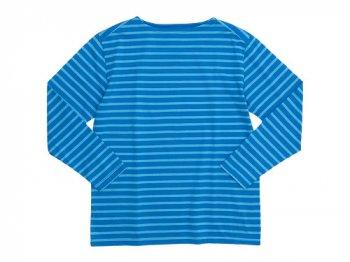 Charpentier de Vaisseau Boat Neck 9/10 Sleeve BLUE x LIGHT BLUE