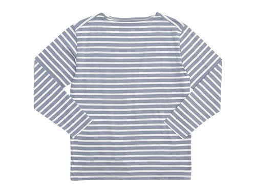 Charpentier de Vaisseau Boat Neck 9/10 Sleeve GRAY x WHITE