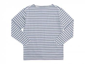 Charpentier de Vaisseau Boat Neck 9/10 Sleeve GRAY x WHITE