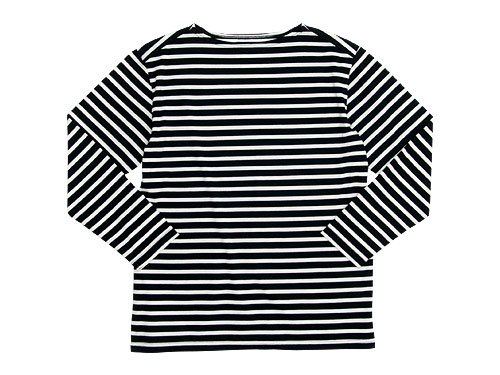Charpentier de Vaisseau Boat Neck 9/10 Sleeve BLACK x WHITE