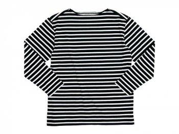 Charpentier de Vaisseau Boat Neck 9/10 Sleeve BLACK x WHITE