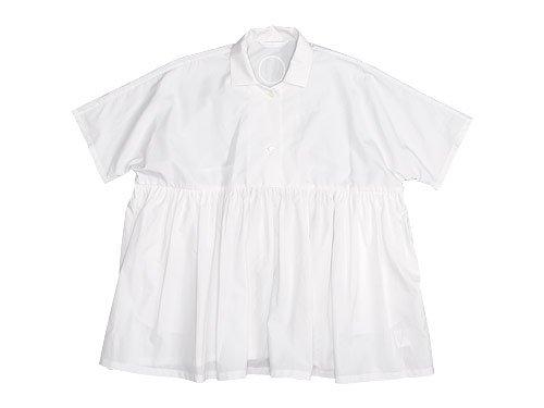 Lin francais d'antan Breton(ブルトン) Short Sleeve Shirts WHITE