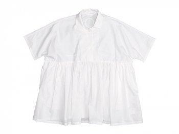 Lin francais d'antan Breton Short Sleeve Shirts WHITE