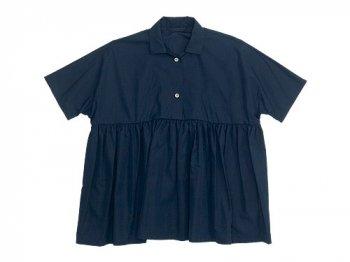 Lin francais d'antan Breton Short Sleeve Shirts NAVY
